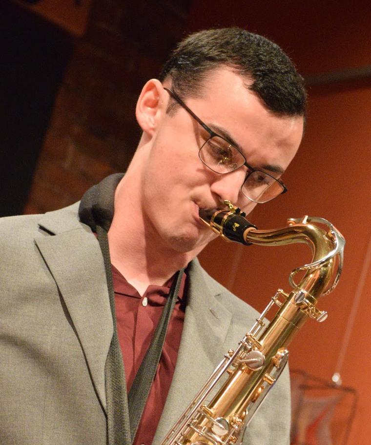 Saxophonist Patrick Gannon